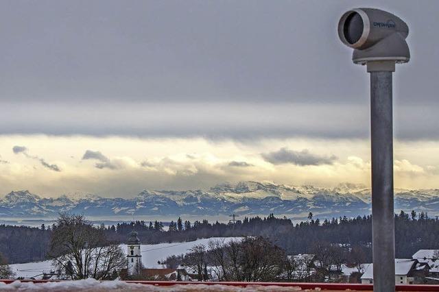 Grandiose Aussicht bis in die Schweiz
