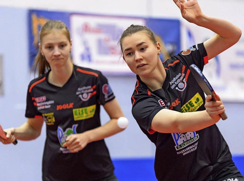 Zwei Matches, zwei Siege: Anna Kiriche...zu ihrem ersten Saisonsieg im Einzel.   | Foto: gerd Gründl