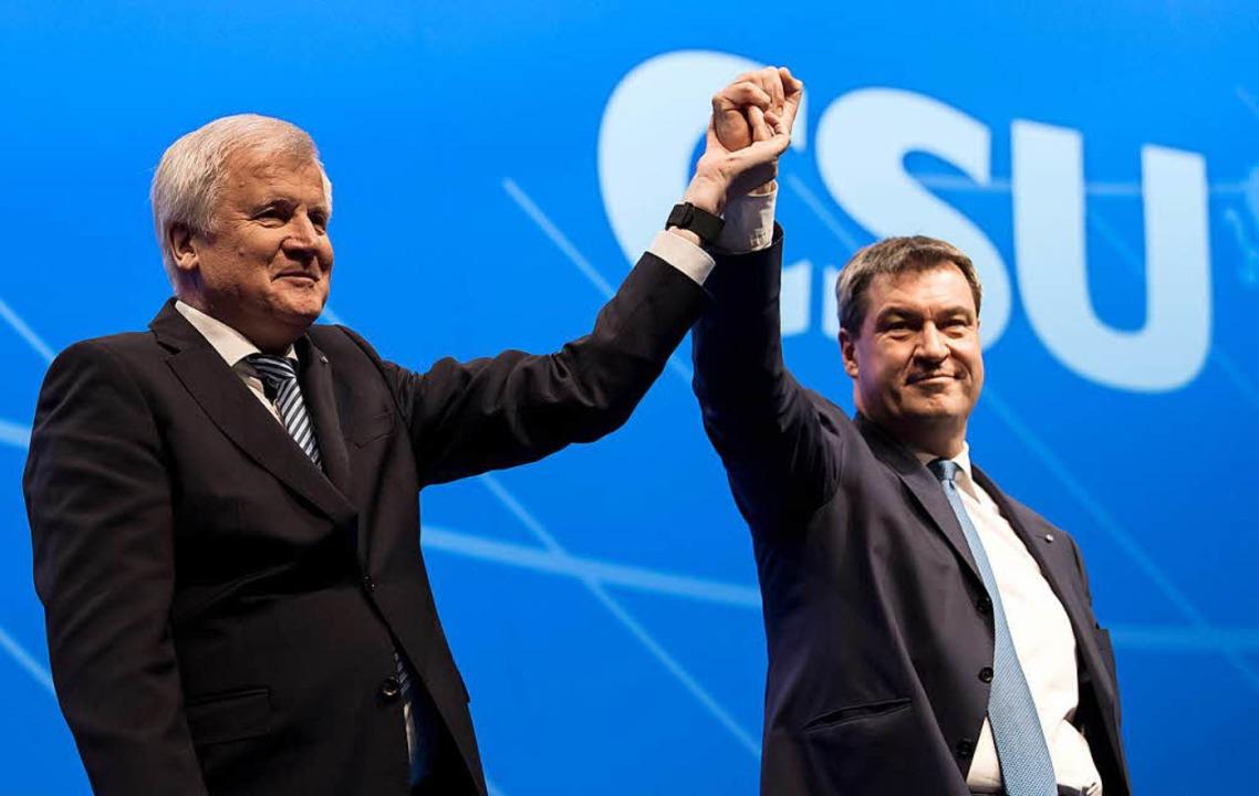 Parteien CSU Bayern Deutschland : Söder und Seehofer: