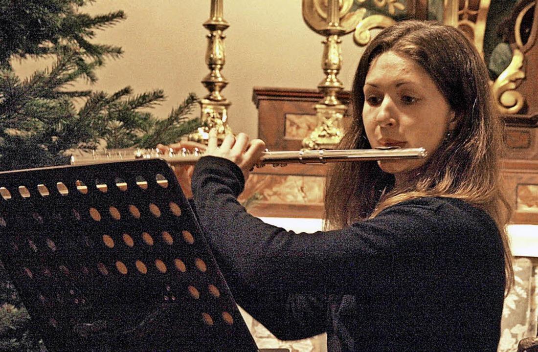 Beim diesjährigen Weihnachtskonzert de...mit einer Kirnberger-Sonate brillierte  | Foto: Karin Stöckl-Steinebrunner