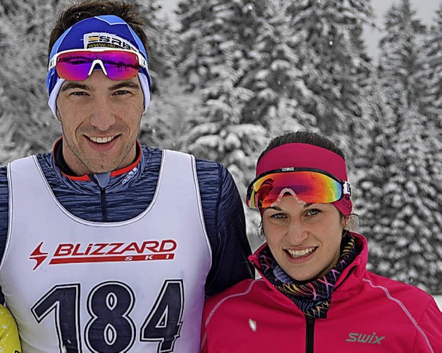 Manuel Becker  und seine Ehefrau Linda wurden am Notschrei Tagessieger.  | Foto: Helmut Junkel