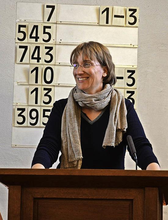 Die Pfarrerin Anne Lepper könnte hier bald öfter stehen.  | Foto: Benedikt Sommer