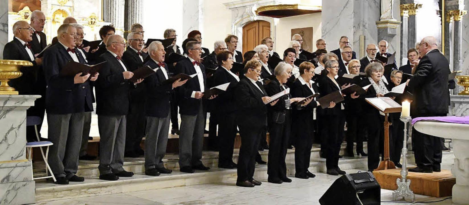 Der Schutterner Kirchenchor unter der ... Fluck beim Kirchenkonzert am Sonntag   | Foto: Wolfgang Künstle