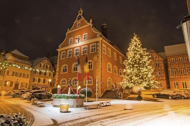 Verschneites Ettenheim