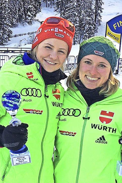 Pokalsieger: Annika Knoll (links) und Janina Hettich   | Foto: zvg
