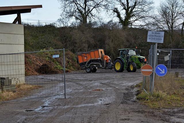 Weiler müssen Grün- und Baumschnitt zu weiter entfernten Sammelplätzen bringen