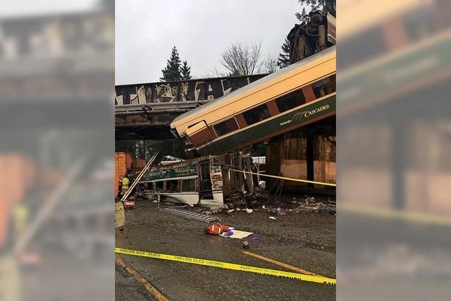 Zug stürzt von der Brücke