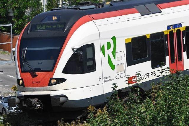 Die Gartenbahn zwischen Weil am Rhein und Steinen steht still