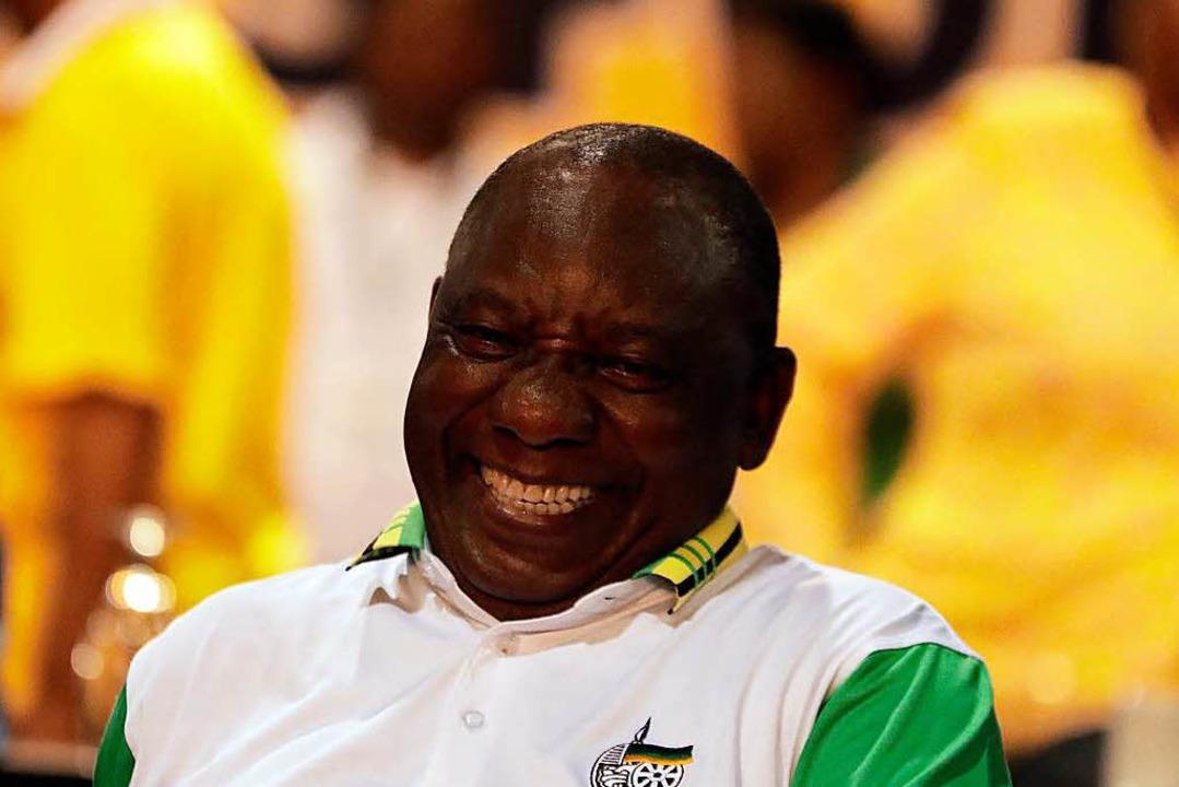 Cyril Ramaphosa, der neue Präsident von Südafrikas Regierungsparty ANC.  | Foto: dpa