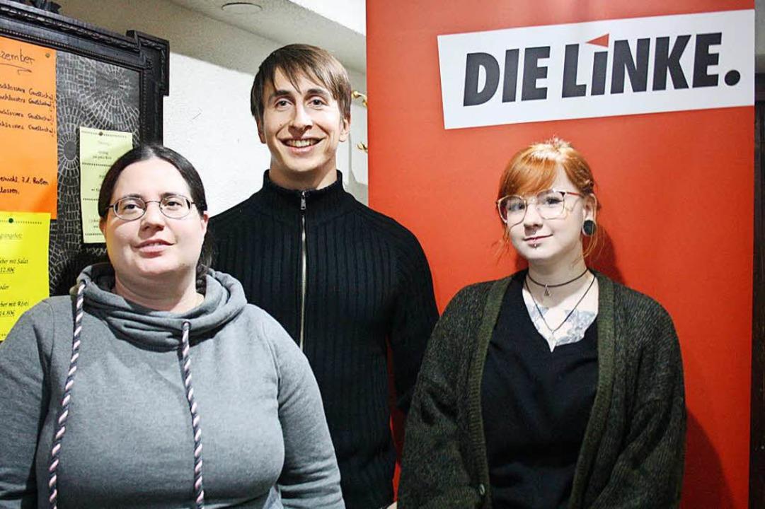 Leiten den neuen Linken-Ortsverband We...adine Pittorf (Beisitzerin, von links)  | Foto: Elisabeth Weniger