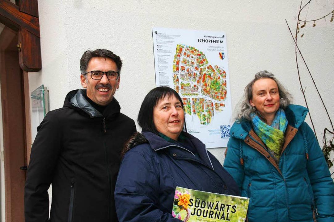 Neu in Schopfheim ist die Möglichkeit ... Tourismusleiterin Jutta Hofmann  vor.  | Foto: Marlies Jung-Knoblich