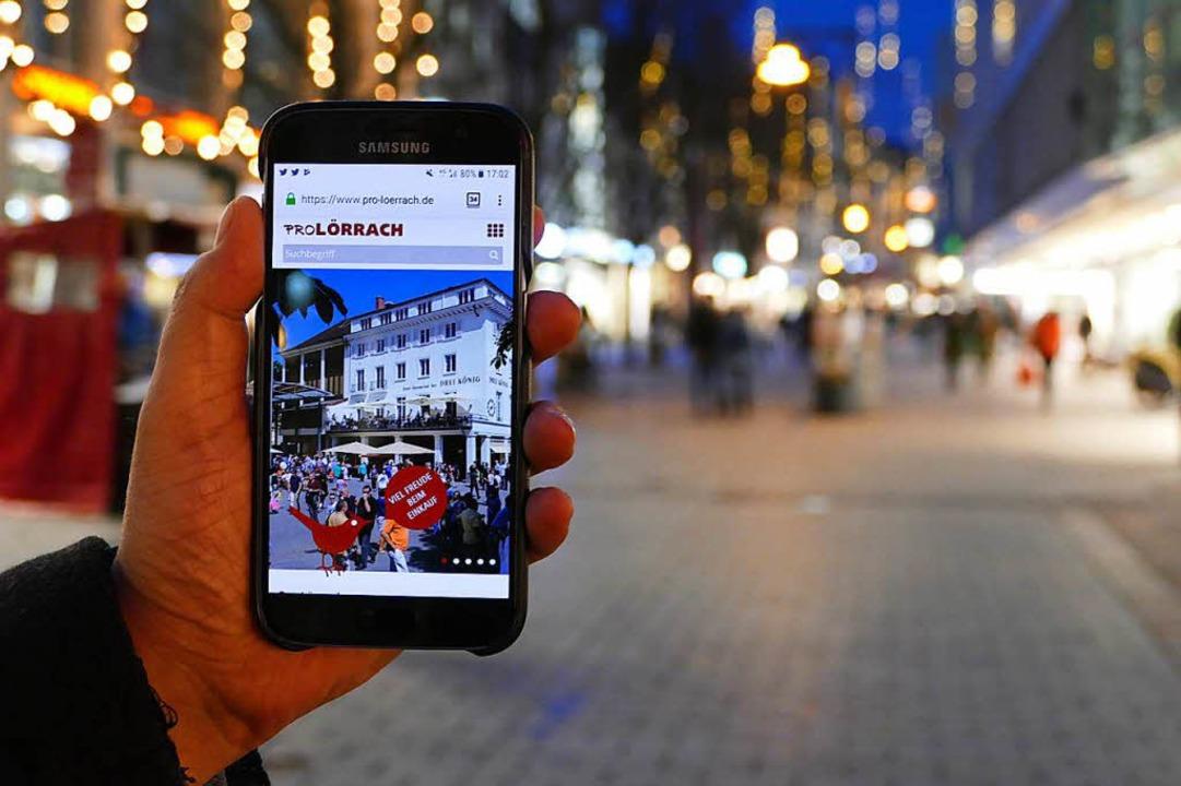 Für Smartphones optimiert: der Internetauftritt des Vereins Pro Lörrach  | Foto: Jannik Jürgens