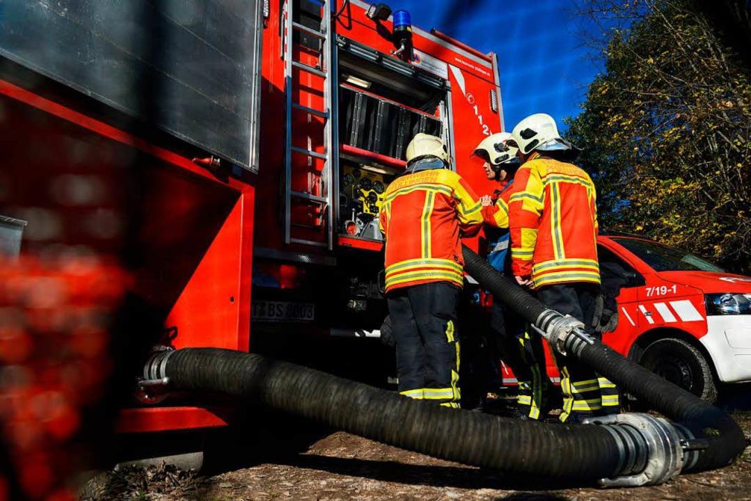 Feuerwehr in einer Übung    Foto: dpa