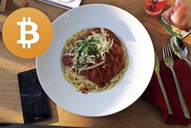 Spaghetti für 0,0010962 Bitcoins