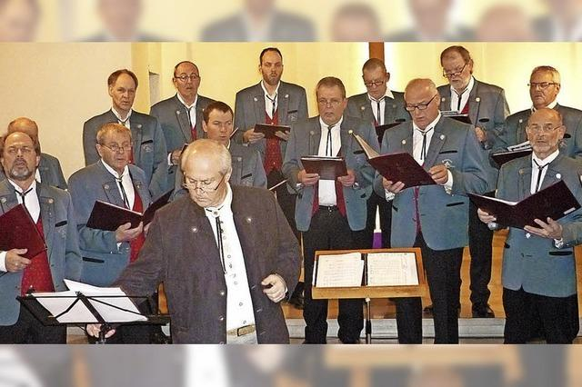 Chorgesang mit Weihnachts-Andacht