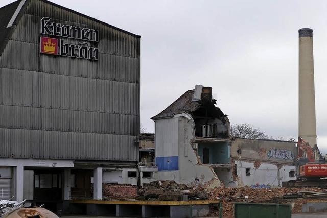 Abriss der alten Brauerei