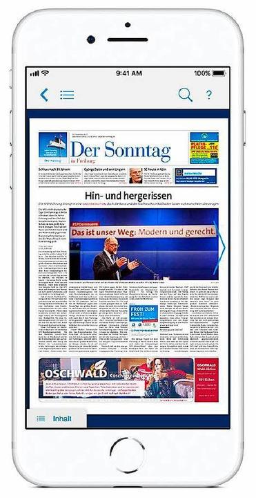 Sonntags kann in der BZ App nun auch d...blet-Computern wie auf dem Smartphone.    Foto: bz