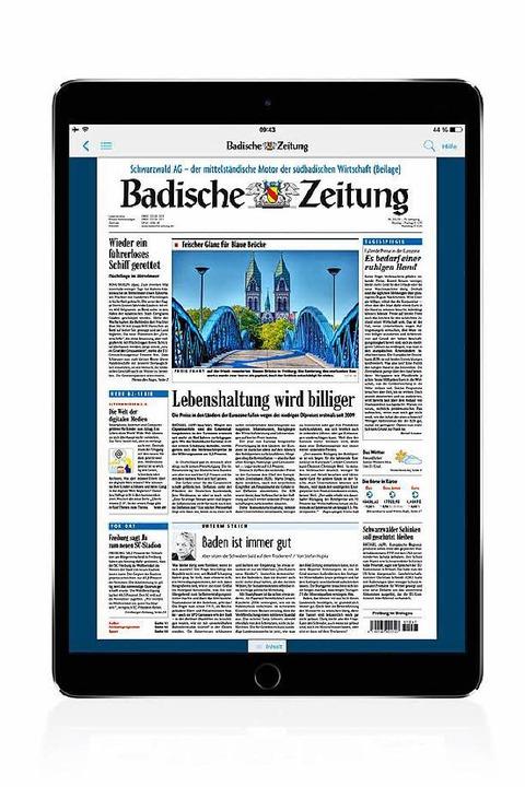 Bis zum 31.12.2017 bietet die BZ ihren... Tablet-Geräte zu reduzierten Preisen.    Foto: bz
