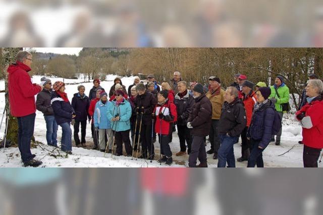 Geschichtliches bei Winterwanderung