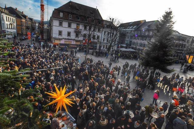 Treffen auf dem Alten Markt in Lörrach finden an Heiligabend und Silvester statt