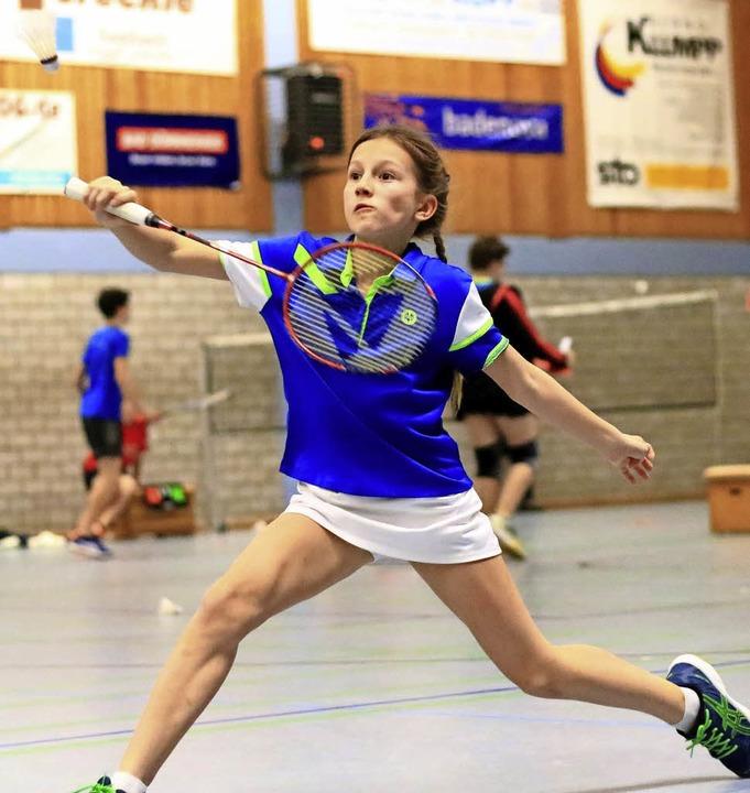 <BZ-FotoAnlauf>Badminton:</BZ-FotoAnla...ach gut in Form war Sarah Koch (BCO).   | Foto: Verein