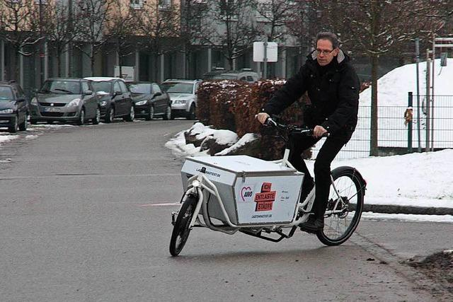 Neue Mobilität: Bad Säckingen teilt sich ein Lastenfahrrad
