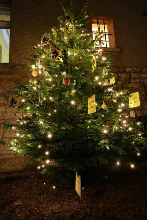 Weihnachtlicher Empfang am Eingang der Villa  | Foto: Peter Gerigk