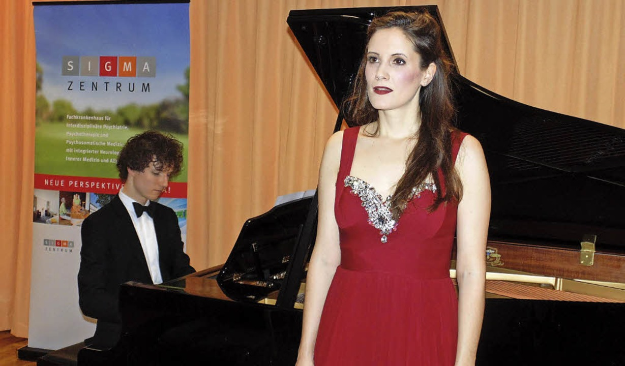 Die Sopranistin Franziska Andrea Heinz...nd im Sigma-Zentrum in Bad Säckingen.   | Foto: Michael Gottstein