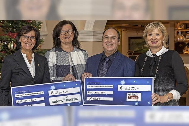 Christstollenverkauf im Europa-Park bringt 5000 Euro