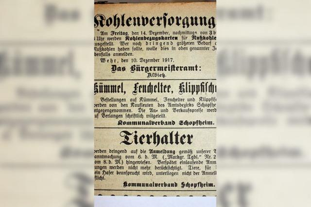 Wehr hat 23 tote Soldaten im Jahr 1917