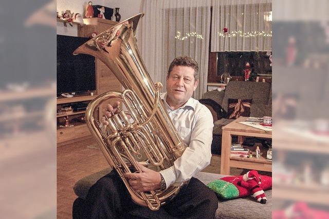 Tuba-Spieler aus Leidenschaft
