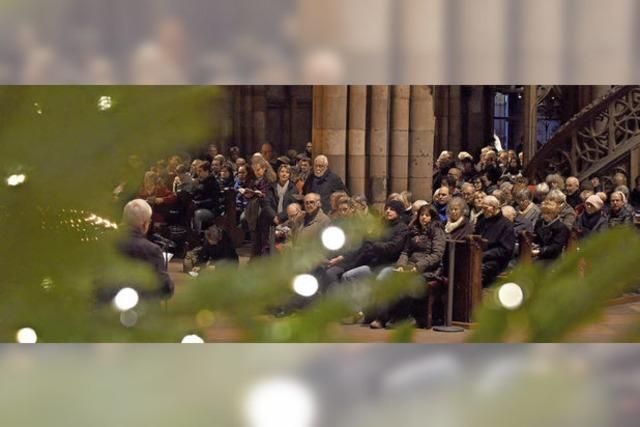Weihnachtsliedersingen im Münster