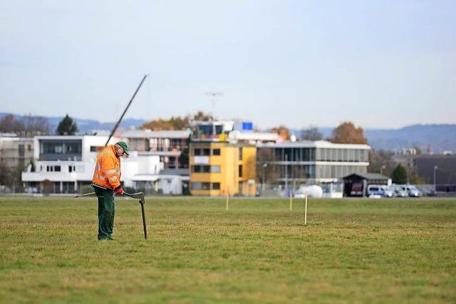 Vorarbeiten für Bau des neuen SC-Stadions am Flugplatz laufen schon