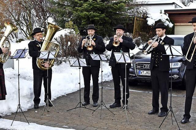 Weihnachtliche Straßenmusik