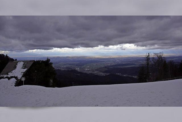 Viel Wolken, Sonnenschein und Schnee
