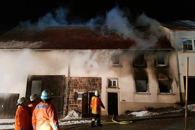 In Unadingen hat ein Haus gebrannt – Nachbarn evakuiert