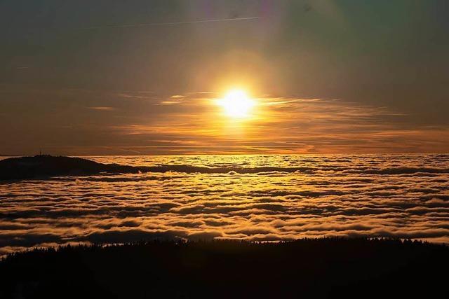 Wenn hinterm Schönberg die Sonne untergeht