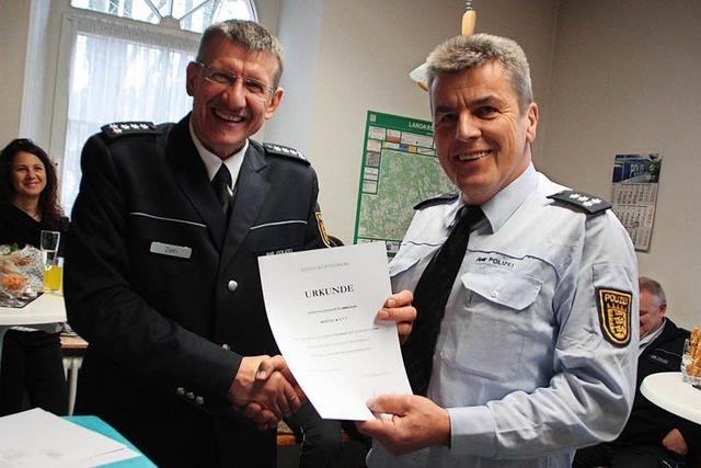 Fliegender Wechsel bei Wehrer Polizei