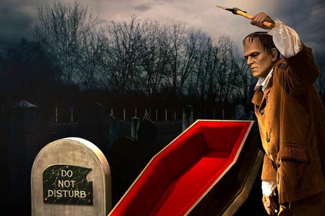 Frankensteins Monster in der Filmgesta...figur  in einem Pariser Museum, 2016)     Foto: AFP