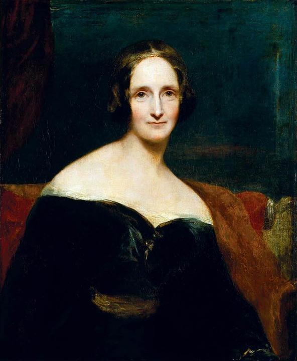 Mary Shelley (1840), Gemälde von Richard Rothwell     Foto: bz