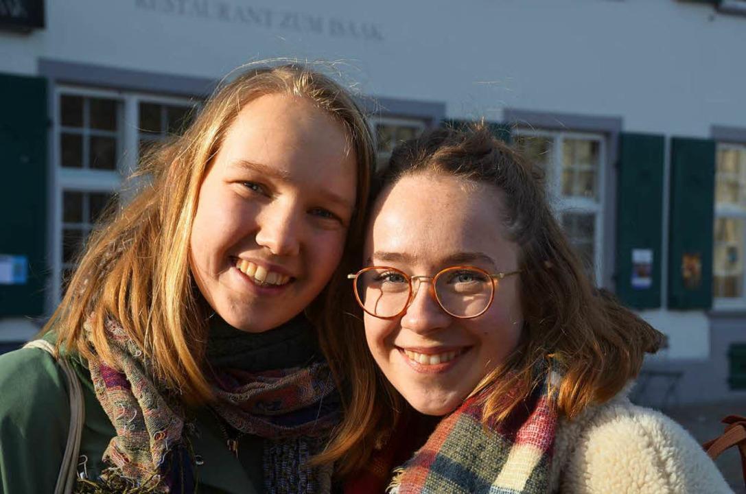 Taizé-Freiwillige aus Holland: Gerlien und Mattanja  | Foto: hupka
