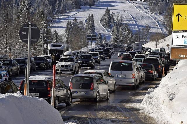 Verkehrsnotstand auf dem Feldberg