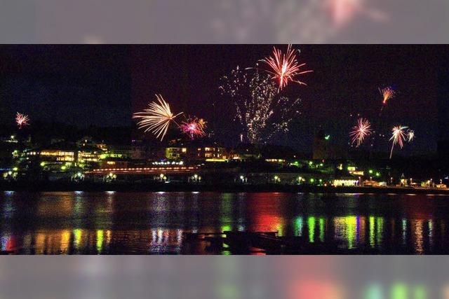 Feuerwerk über dem Schluchsee
