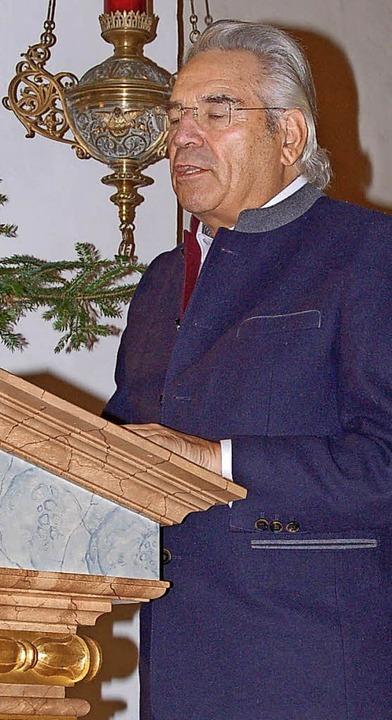 29. Friedensgebet in Suggental: Initiator Horst Zahner.  | Foto: Christian Ringwald