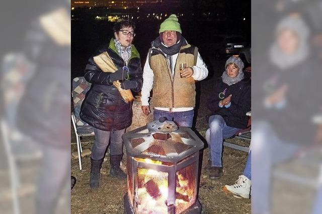 Jahresausklang am Lagerfeuer in luftiger Höhe