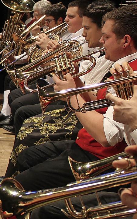 Die Oberrieder Trachtenkapelle musiziert auf hohem Niveau.   | Foto: Erich Krieger
