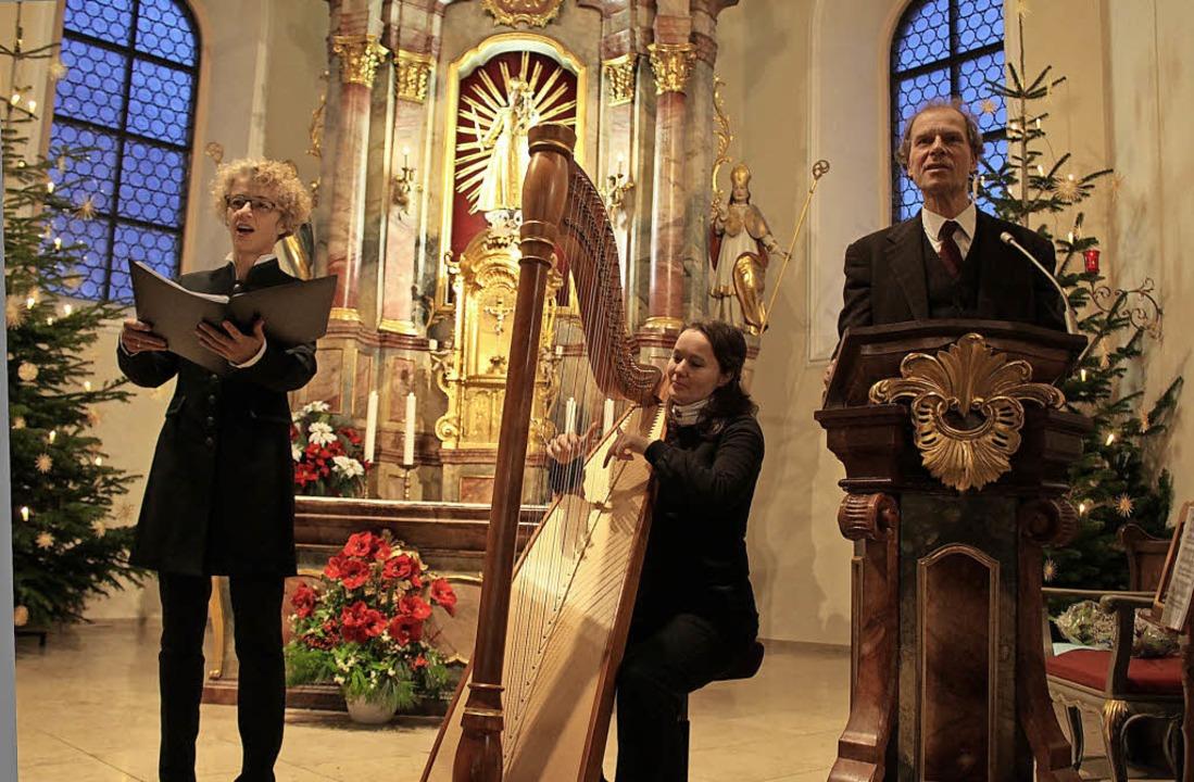 In der Wallfahrtskirche Maria Lindenbe...Götz an der Orgel auf der Empore saß.     Foto: Erich Krieger