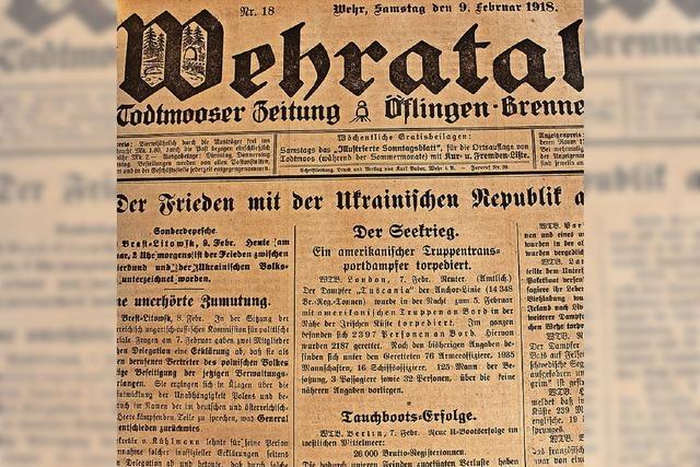 Bahnunglück vor 100 Jahren in Wehr