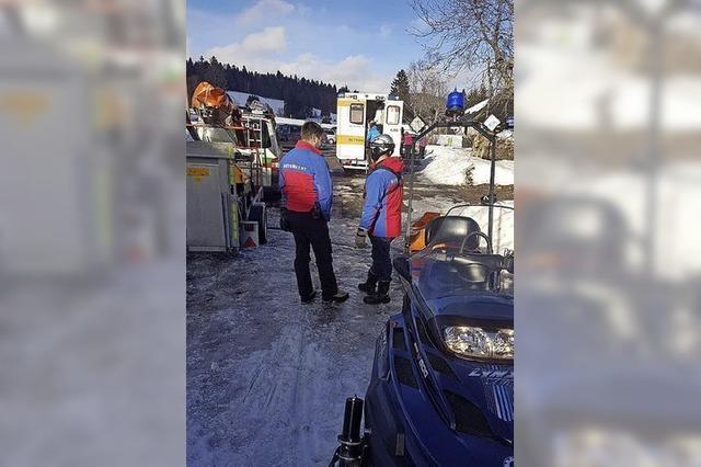 Bergwacht hilft Langläuferin
