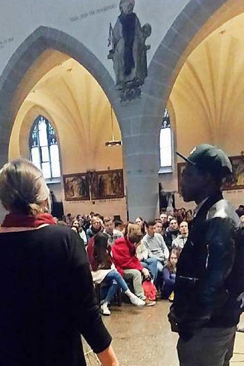 Zum Rahmenprogramm gehörte ein Worksho...äste des Taizé-Treffens interessierte.  | Foto: privat